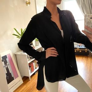 Chloe Navy silk blouse size 10